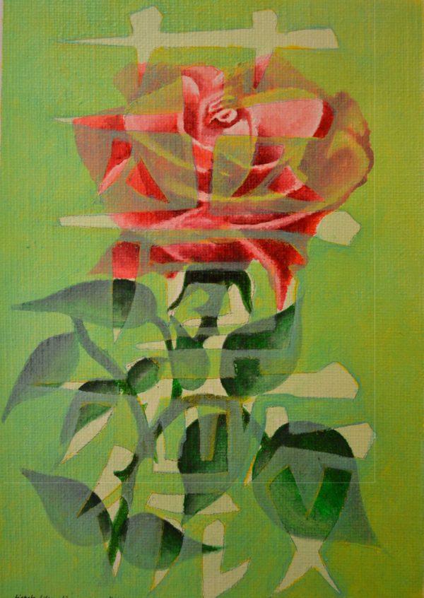 Bara (Rose) Öl  LW  16x 23 cm