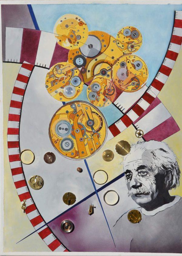 Einsteins Idee 50×70 cm Öl LW