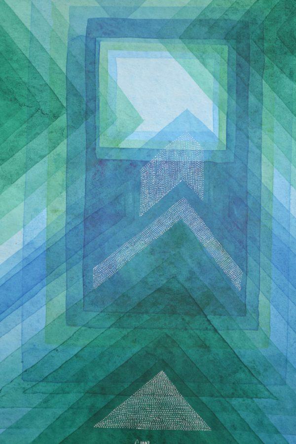 Gipfel 26×35 cm Aquarell