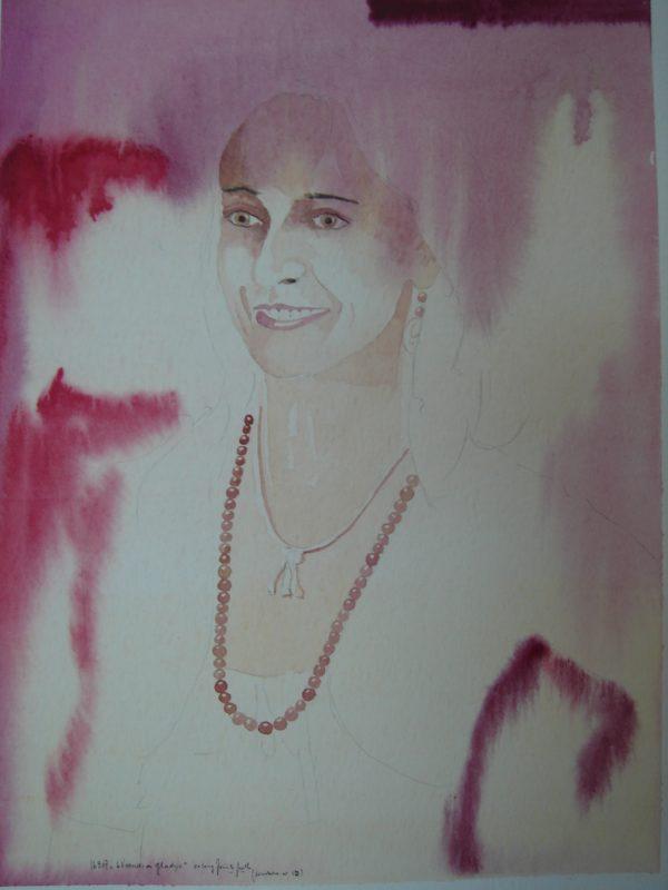 Gladys 24×32 cm Aquarell Papier