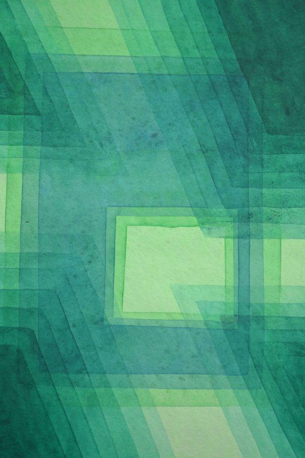 Grüne Fenster 26×35 cm Aquarell