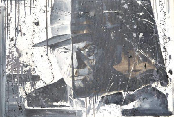 Mann mit Hut 50×70 cm Öl LW
