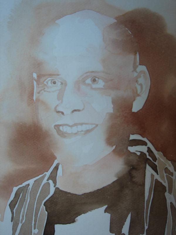 Selbstporträt 24 x 32 cm